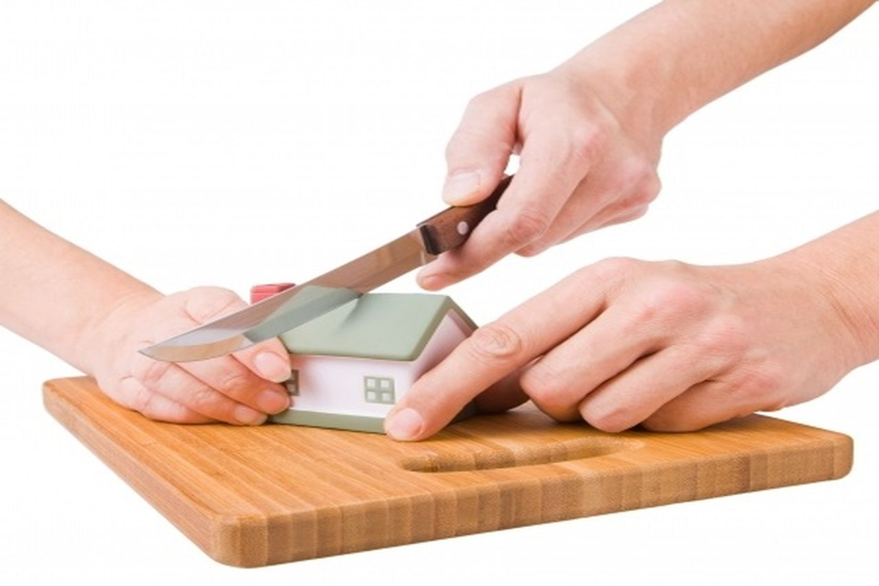 Using a knife is dividing an property asset model